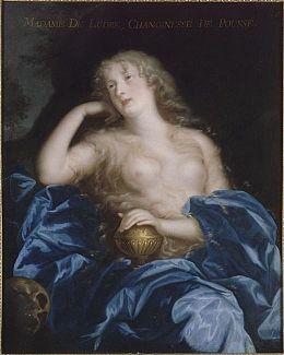 Portrait de Madame Marie-Elisabeth de Ludres, chanoinesse de Poussay , maîtresse de Louis XIV, représentée en Marie-Madeleine.jpg