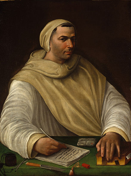 Depiction of an Olivetan monk, 16th century Portrait of an Olivetan Monk - Battista Franco (attributed).jpg