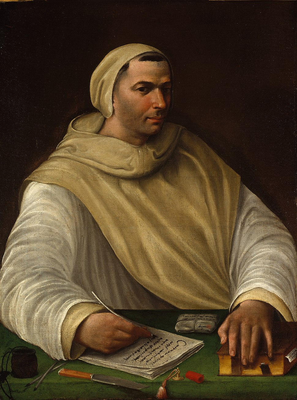 Portrait of an Olivetan Monk - Battista Franco (attributed)