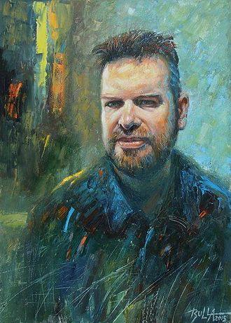 Jarosław Pijarowski - portrait of Jarosław Pijarowski painted by Ignacy Bulla in 2015 year