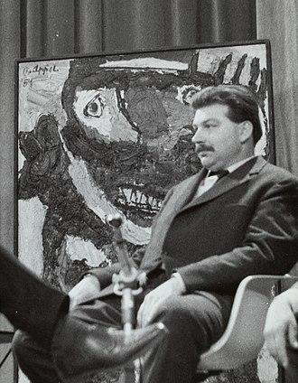 Karel Appel - Image: Portret van de kunstschilder Karel Appel (1921 2006) tijdens een interview, Bestanddeelnr 133 1171