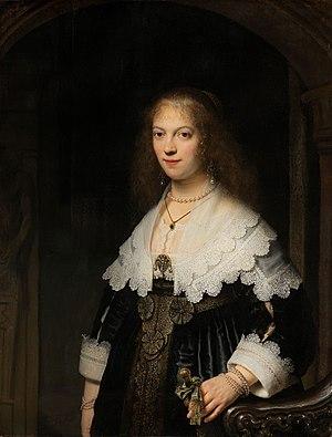 Portrait of Maria Trip - Image: Portret van een vrouw, mogelijk Maria Trip Rijksmuseum SK C 597