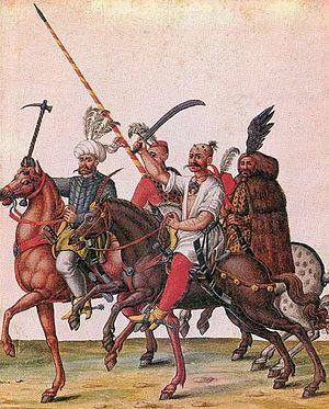 Battle of Leobersdorf - Image: Portyázó törökök