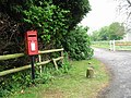 Post box and entrance to St Radigund's Abbey Farm - geograph.org.uk - 419257.jpg