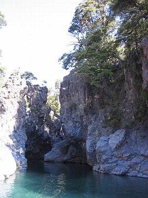 Radal Siete Tazas National Park - Pools along the river Claro.
