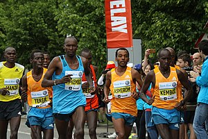Nicholas Kemboi (born 1983) - Nicholas Kemboi in Prague International Marathon in 2014