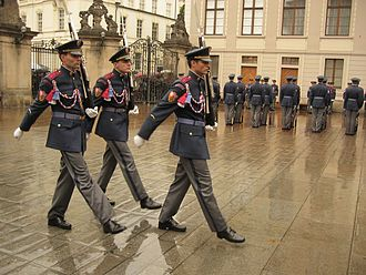 Guard mounting - Changing the Guard at Prague Castle.