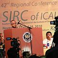 Pranab Mukherjee, Finance Minister of India addressing the delegates at Regional Conference of Institute of Chartered Accountants of India.jpg