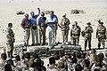 President George H. W. Bush and Mrs. Barbara Bush visit troops.jpg