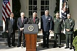 President George W. Bush Meets with Generals Abizaid and Casey, Discusses War on Terror.jpg