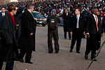 President Obama waves to the crowd in 57th Presidential Inaugural Parade 130121-Z-QU230-191.jpg