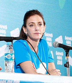 Press talk at the 2018 Summer Youth Olympics – Luciana Aymar (Luciana Aymar).jpg
