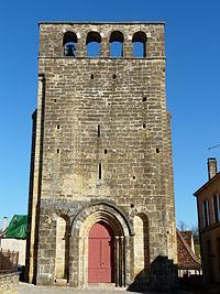 Preyssac-d'Excideuil église clocher-mur.JPG