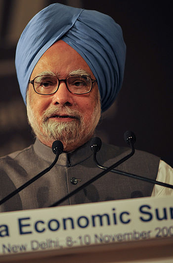 English: Prime Minister Manmohan Singh in the ...