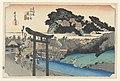 Print, Yugoyoji Temple (Fugisawa), in The Fifty-Three Stations of the Tokaido Road (Tokaido Gojusan Tsugi-no Uchi), ca. 1834 (CH 18608951-2).jpg