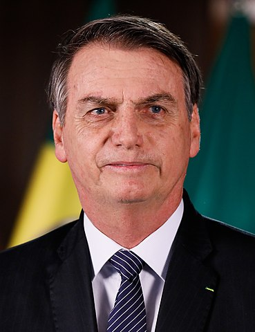 Jair Bolsonaro, the incumbent President of Brazil, known for his conservative stances.