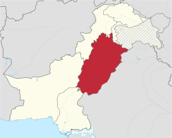 Punjab in Pakistan (claims hatched).svg