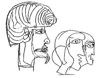 Pyramid of Senusret III - Graffito of the striking-haired digger