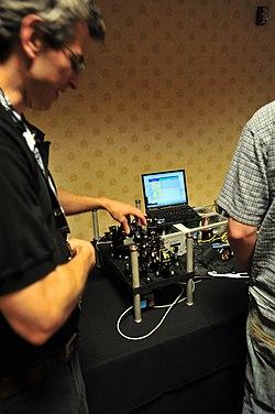 Quantum Entangled Photon Generator - DEF CON 17 - Aug. 2009.jpg