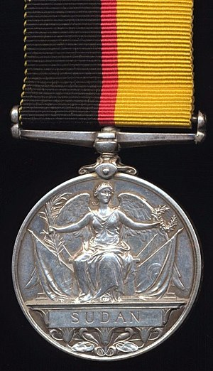 Queen's Sudan Medal - Image: Queen's Sudan Medal (Reverse)