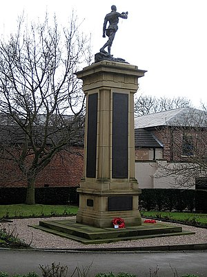 Queen Elizabeth Grammar School, Wakefield - War memorial at Queen Elizabeth Grammar School, Wakefield