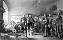 Idealisierte Darstellung der Fürsorge ihrer Königin für die Krimheimkehrer in den Hospitälern (Quelle: Wikimedia)