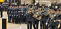 RAF Band leaving St Clement Danes (8657837465).jpg