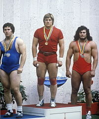 RIAN archive 484445 Winners of the weightlifting competition in the 1980 Olympics.jpg