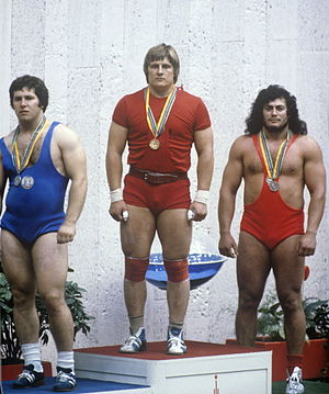 Valentin Hristov (weightlifter, born 1956) - Hristov (left) at the 1980 Olympics