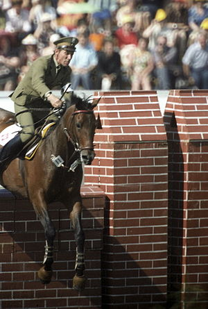Equestrian at the 1980 Summer Olympics - Individual show jumping gold medalist Jan Kowalczyk from Poland