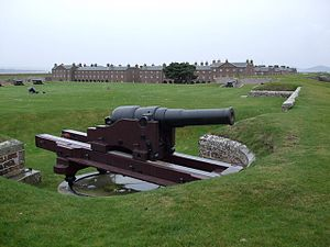 RML 64 pounder 64 cwt gun - The sole surviving Mk I gun, at Fort George, Scotland.