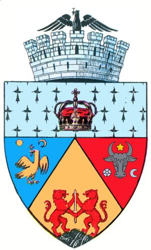 Coat of arms of Alba Iulia - Image: ROU AB Alba Iulia Co A
