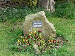 Outhgill - Memorial stone in St Mary's Churchyard