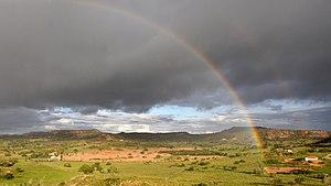 Sertão - Rainbow at Brazilian Sertão (desert). Cícero Dantas, Bahia, Brazil.