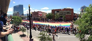 Rainbow flag at Utah Pride