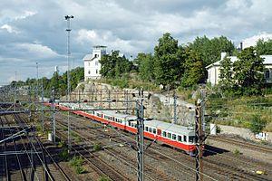 Helsinki–Riihimäki railway - Image: Raiteet Helsingin rautatieasemalle 2