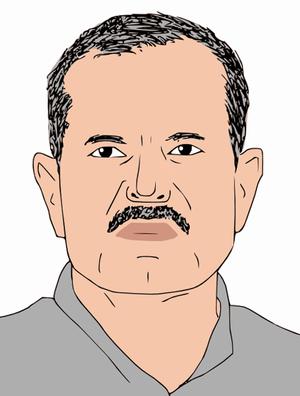 Sketch portrait of Ram Baran Yadav, President ...