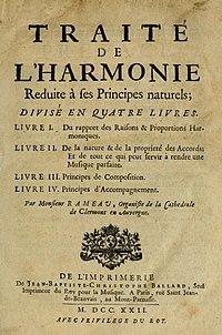 Rameau's 'Traité de l'harmonie' (Treatise on Harmony) from 1722.