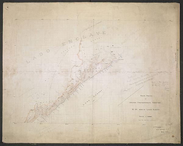 600px rapid sketch of uganda protectorate territory n.w. side of lake albert. %28woos 14 7%29