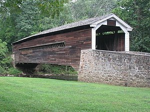 East Pikeland Township, Chester County, Pennsylvania - The Rapps Dam Covered Bridge