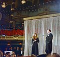 Raquel Welch with Bob Hope giving a benefit performance at the Waldorf-Astoria for the Eisenhower Medical Center (01).jpg