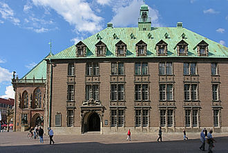New Town Hall (Bremen) - Eastern faҫade with portal