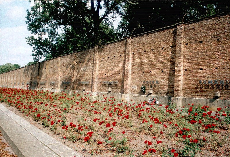 Wall of Nations with a mass grave for 300 prisoners.