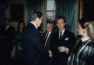 Roger Stone - Stone greeting President Ronald Reagan in 1985
