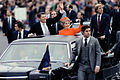 Reagans wave from limousine inaugural parade 1981.jpg