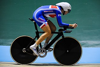 Great Britain at the 2008 Summer Olympics - Women's individual pursuit gold medallist Rebecca Romero.