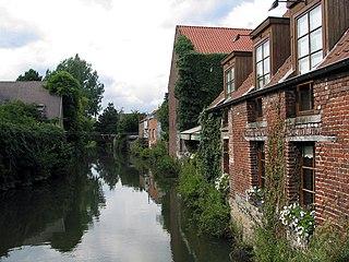 Zenne River in Belgium