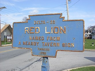 Red Lion, York County, Pennsylvania - Image: Red Lion, PA keystone marker