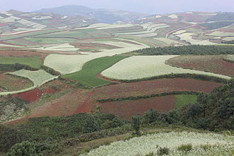 Dongchuan District - Red earth at Hongtudi