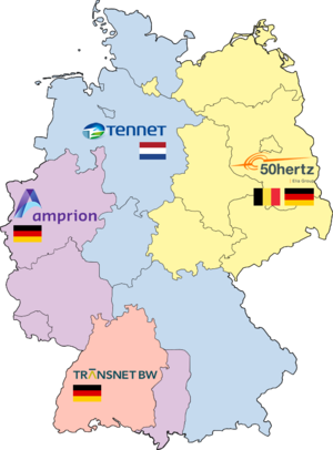Elia System Operator - Transmission system operators in Germany: 50Hertz, Amprion, TenneT, and TransnetBW